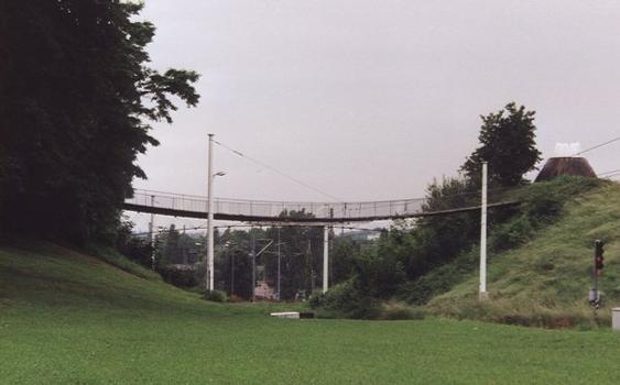 Fußgängerbrücken im Rosensteinpark in Stuttgart