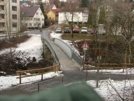 Footbridge across the Rottach