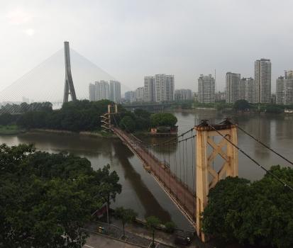 Pont Sanxianzhou et passerelle du parc à Fuzhou