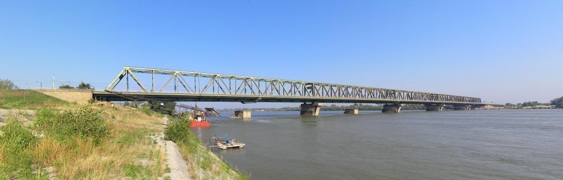 Railway and Roadway Bridge across the Danube at Belgrade