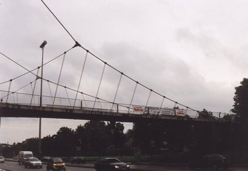 Pedestrian Bridge over the Willy Brandt Strasse at the Intercontinental Hotel in Stuttgart