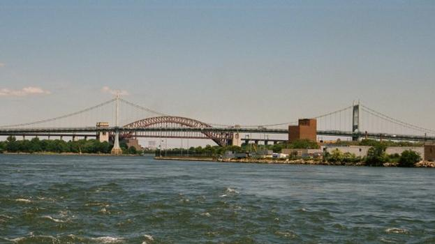 Triborough Bridge with Hell Gate Bridge in the background.