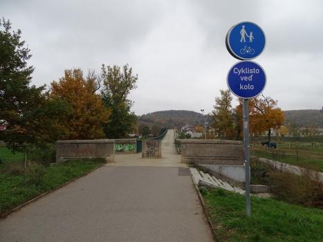 Geh- und Radwegbrücke Troja