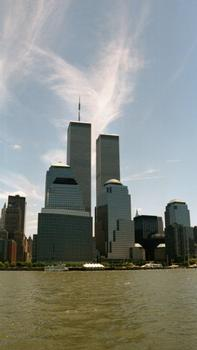 Türme des World Financial und des World Trade Centers