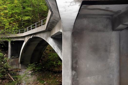 Ziggenbachbrücke am Wägitalersee von Robert Maillart, erbaut 1924, Innerthal, Schwyz