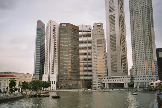 Buildings around Raffles Place, Singapore.