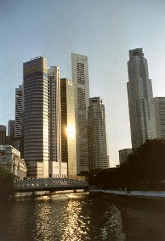 Buildings around Raffles Place, Singapore