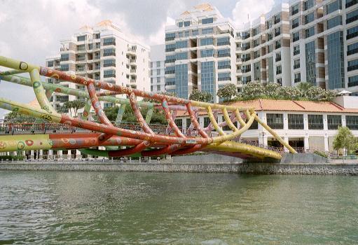 Alkaff Bridge, Singapur.