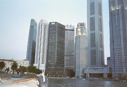 Buildings near Raffles Place, Singapore.