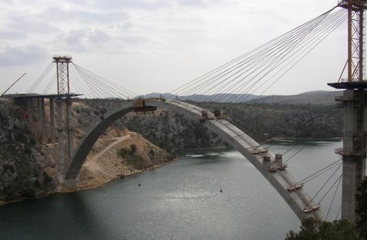 Pont sur la Krka, Croatie