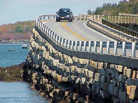 Bailey Island Bridge.