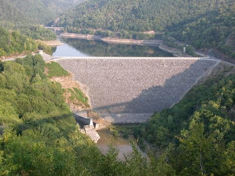 Barrage de BesserveVue depuis le viaduc des Fades