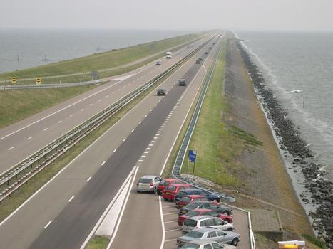 Afsluitdijk - Entre Den Oever et Harlingen - Zuiderzee - Hollande