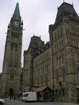 Kanadisches Parlament, Ottawa, Ontario, Kanada Zentralgebäude