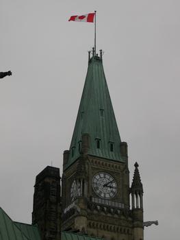 Kanadisches Parlament, Ottawa, Ontario, Kanada Zentralgebäude Peace Tower