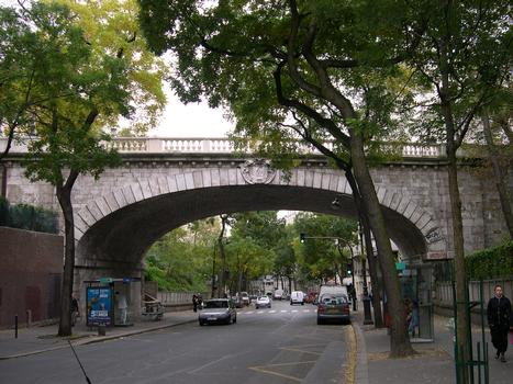 Pont de la Rue Charles Renouvier, Paris.