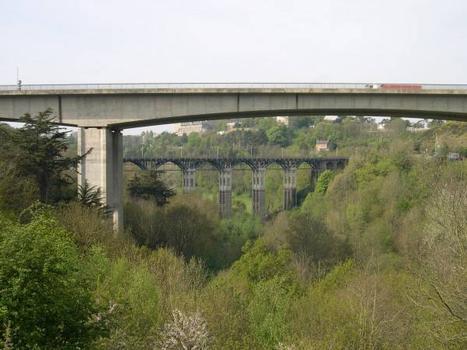Viaduc sur Le Gouédic - Saint Brieuc - Piles Centrales + Viaduc de Toupin