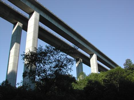 Highway viaduct over the Briance at Pierre-Buffière