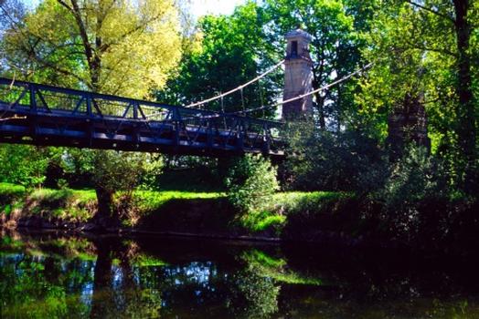 Hängebrücke über die Argen, Langenargen.