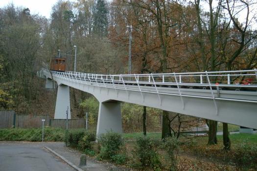 Standseilbahn zum Waldfriedhof, Stuttgart.