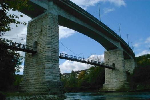 Aareviadukt und Hängebrücke Brugg