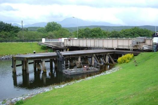 Gairlochy swing bridge across the Caledonina Canal