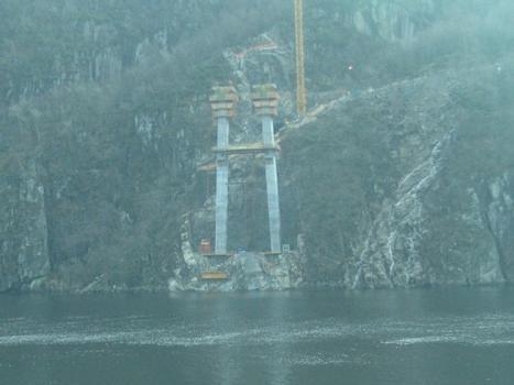 Fedafjord bridge under construction, Vest-Agder, Norway.