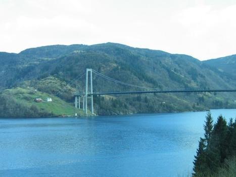 Osterøybrua Bridge across Sørfjorden about 20km east of Bergen.
