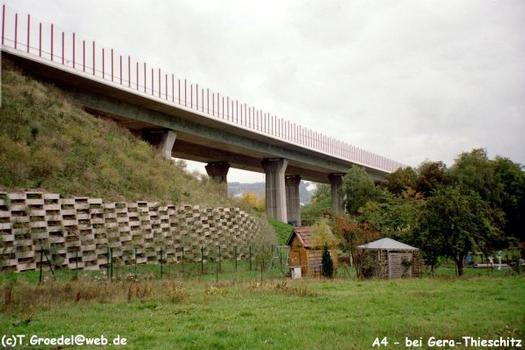 Autobahn A4 Autobahnbrücke Köstritzer Weg, Gera-Thieschitz.
