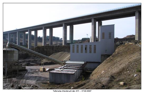 Pont du Steinbruch à Rohr (A 71)