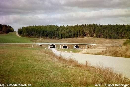 Autobahn A71/Neubaustrecke Ebensfeld-Erfurt Tunnel Behringen