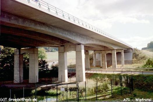 Autobahn A71 Wipfratalbrücke