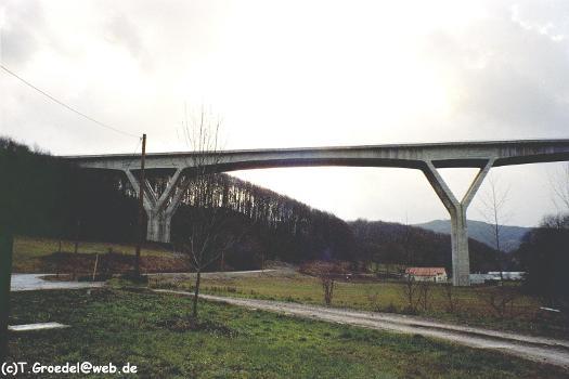 Autobahn A71 –  Talbrücke Zahme Gera