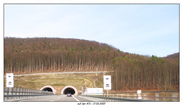 Tunnel der A71 - km 153,5