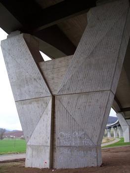 Autobahnbrücke über das Werratal bei Einhausen