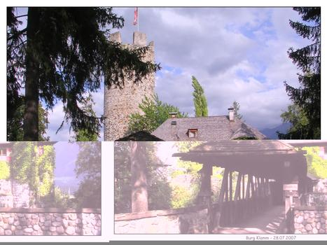 Brücke zur Burg Klamm