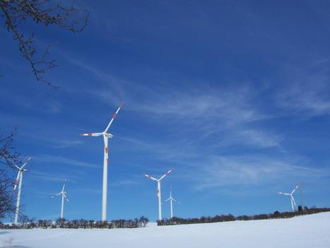 Wind power plant at Bucha