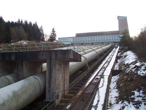 Talsperre Hohenwarte 2Blick vom Aussichtspunkt zum oberen Maschinenhaus