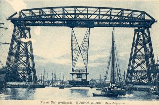 Schwebefähre Buenos Aires Quelle: Postkarte aus der Privatsammlung von Edy Pockelé.