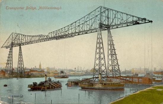 Schwebefähre Middlesbrough Quelle: Postkarte aus der Privatsammlung von Edy Pockelé