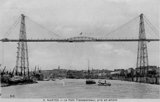 Schwebefähre Nantes Quelle: Postkarte aus der Privatsammlung von Edy Pockelé.
