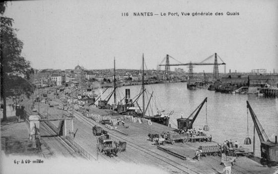 Schwebefähre Nantes Quelle: Postkarte aus der Privatsammlung von Edy Pockelé