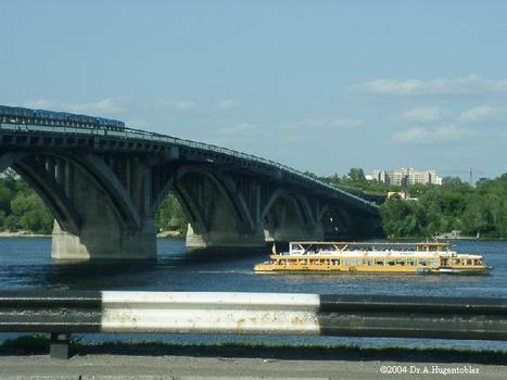 Ukraine, Kiew, Brücken, Metro Brücke 1960