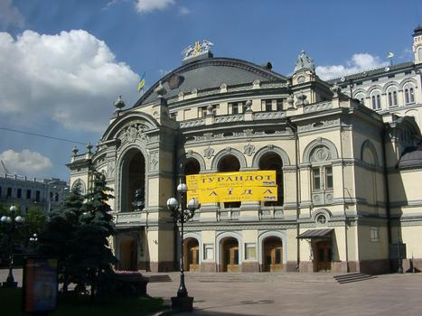 Ukraine, Kiew, Altstadt, Oper und Ballet-Theater