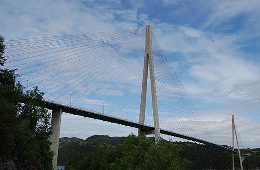 Skarnsundet Bridge, Norway, cable-stayed