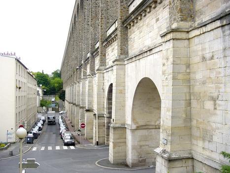 Aqueduc de Marie de Médicis (17e s.), sous l'aqueduc du 19e s