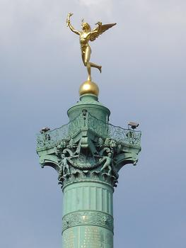 Place de la Bastille. Colonne de Juillet: le Génie de la Liberté