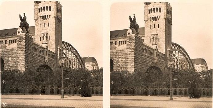 Hohenzollernbrücke, Köln – Stereoskopische Ansicht um 1911 Aus der Sammlung des Stéréo-Club Français