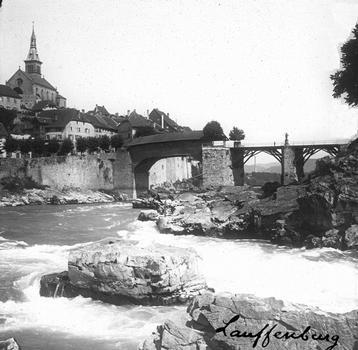 Alte Rheinbrücke Laufenburg – Stereoskopische Ansicht um 1870