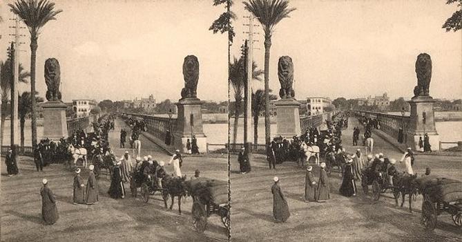 Kobri el Gezira, Kairo — Stereoskopische Ansicht um 1900
